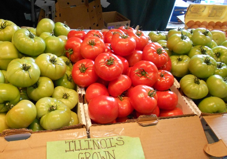 Tomatos at Soulard Market