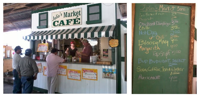 Julia's Market Café and Menu