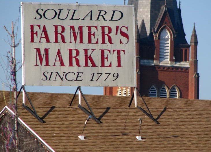 Soulard Farmers Market Sign from 7th St.